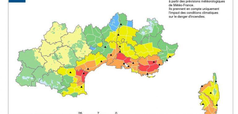 Etat des risques incendie feux de forêts